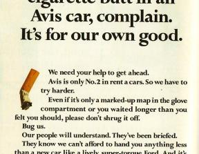 Avis - &quot;We try harder&quot;<br />photo credit: sellsellblog.blogspot.com