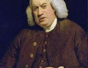 """We are not here to sell a parcel of boilers and vats, but the potentiality of growing rich beyond the dreams of avarice."" - Samuel Johnson, auctioning the contents of Thrale's brewery<br />Samuel Johnson, photo credit: Wikipedia"