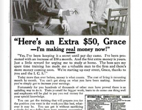 """""""Here's an extra $50, Grace, I'm making real money now"""" (1919)<br />"""