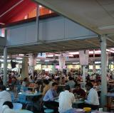 A hawker center in Singapore.<br />photo credit: Wikipedia